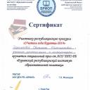 Сертификат Учитель года